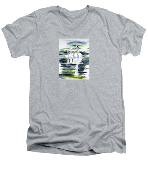 Summer Swans Men's V-Neck T-Shirt