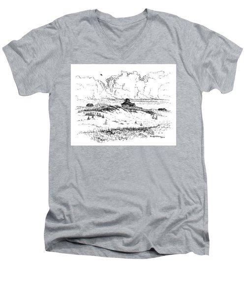 Summer Thunderheads Men's V-Neck T-Shirt