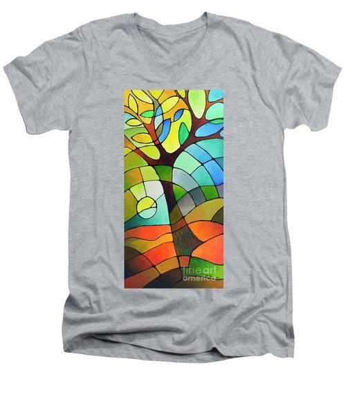 Summer Tree Men's V-Neck T-Shirt