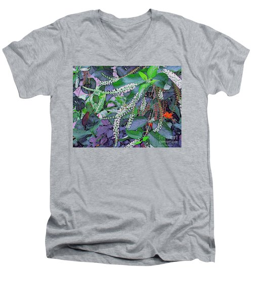 Summer White Men's V-Neck T-Shirt by Kathie Chicoine