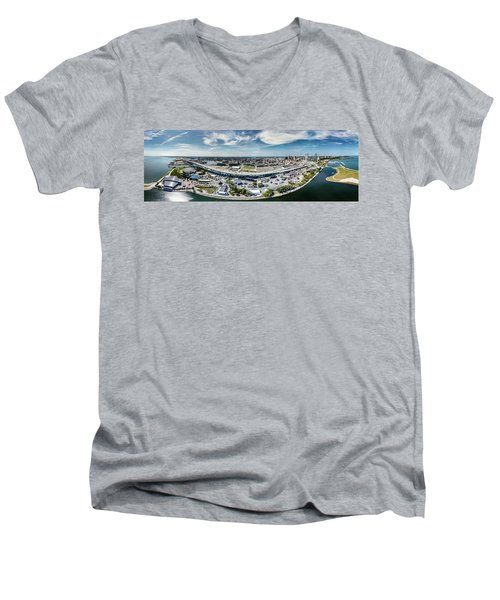 Summerfest Panorama Men's V-Neck T-Shirt
