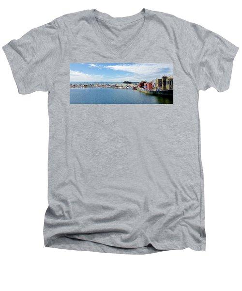 Summers End Capitola Beach Men's V-Neck T-Shirt