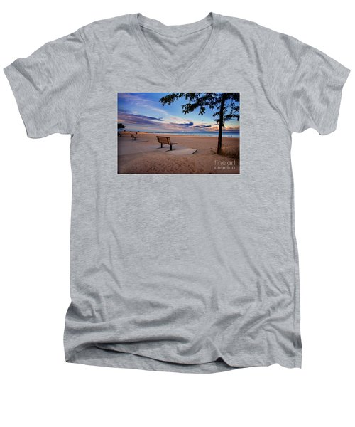 Summers Over Men's V-Neck T-Shirt by Randall  Cogle