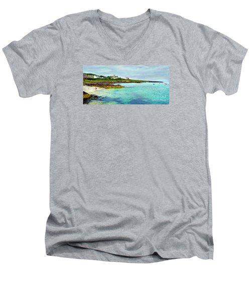 Summertime, Isle Of Iona Men's V-Neck T-Shirt by Judi Bagwell