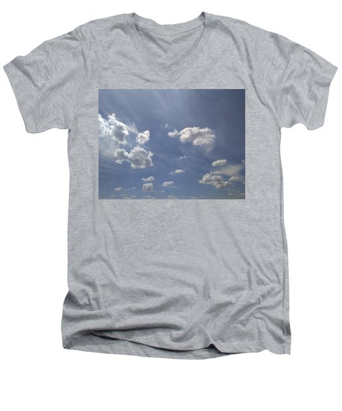 Summertime Sky Expanse Men's V-Neck T-Shirt
