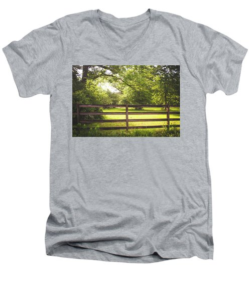 Men's V-Neck T-Shirt featuring the photograph Summertime Sunshine by Shelby Young