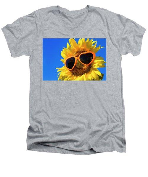 Summertime Men's V-Neck T-Shirt by Teri Virbickis