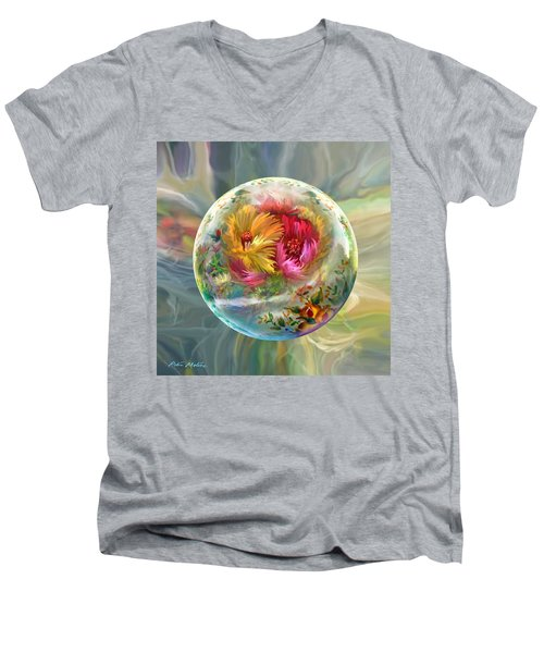 Men's V-Neck T-Shirt featuring the digital art Summer Daydream by Robin Moline