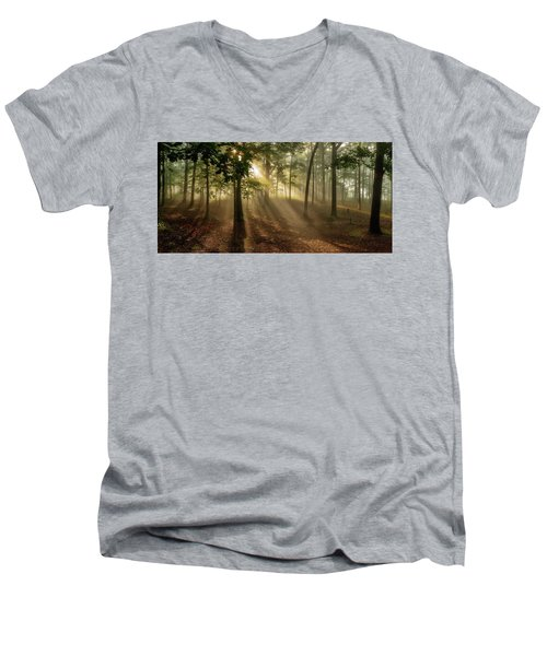 Sun And Clouds Men's V-Neck T-Shirt
