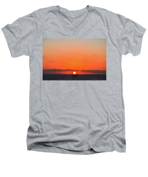 Sun Balancing On The Horizon Men's V-Neck T-Shirt