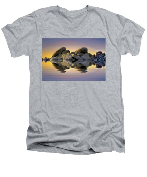Sun Bathed Rocks Men's V-Neck T-Shirt