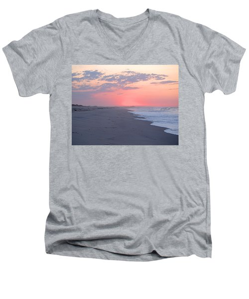 Men's V-Neck T-Shirt featuring the photograph Sun Brightened Clouds by  Newwwman