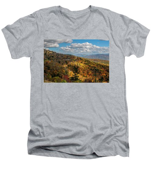 Sun Dappled Mountains Men's V-Neck T-Shirt