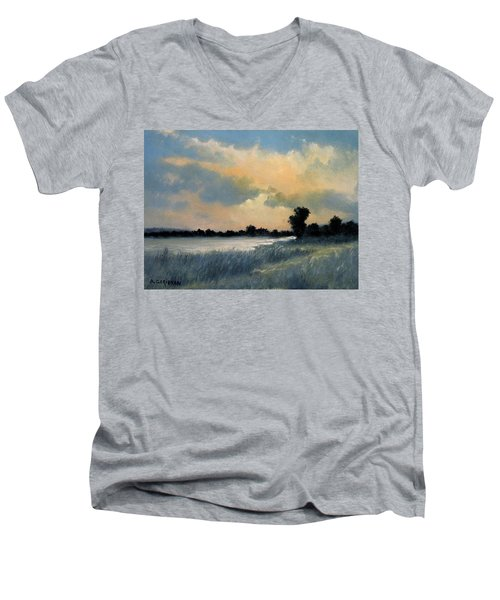 Sun Down Men's V-Neck T-Shirt