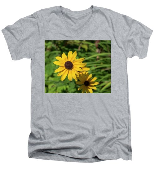 Sun Drenched Daisy Men's V-Neck T-Shirt