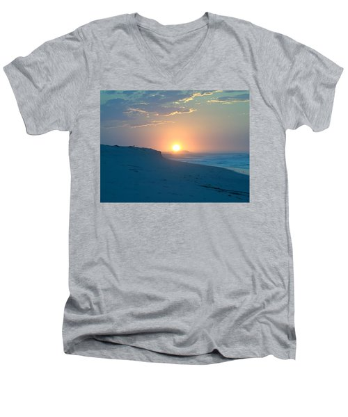 Men's V-Neck T-Shirt featuring the photograph Sun Dune by  Newwwman
