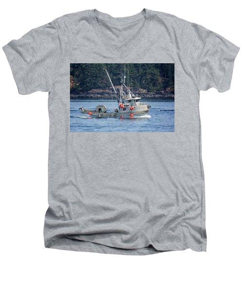 Sun Fisher Off Campbell River Men's V-Neck T-Shirt