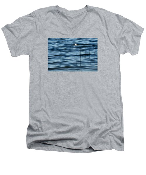Men's V-Neck T-Shirt featuring the photograph Sun Glints 2  by Lyle Crump