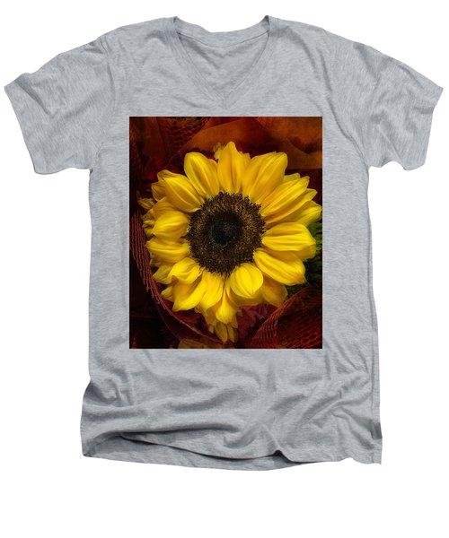Sun In The Flower Men's V-Neck T-Shirt