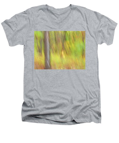 Sun Kissed Tree Men's V-Neck T-Shirt by Bernhart Hochleitner