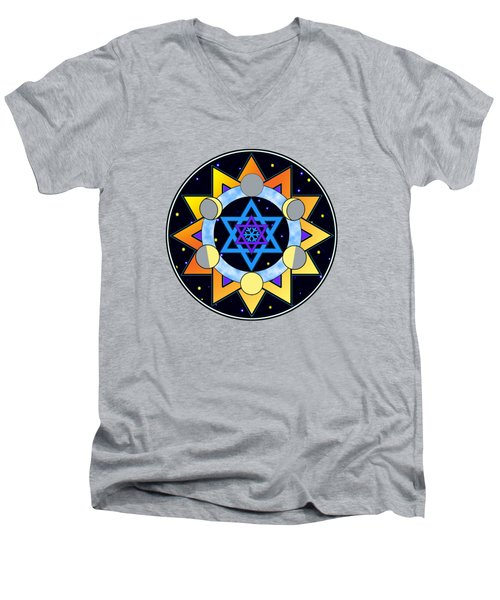 Sun, Moon, Stars Men's V-Neck T-Shirt