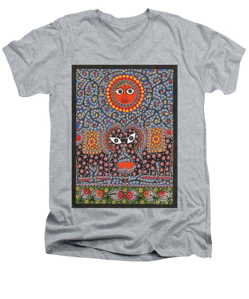 Sun  Men's V-Neck T-Shirt