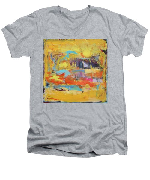 Sun Overlapping Men's V-Neck T-Shirt