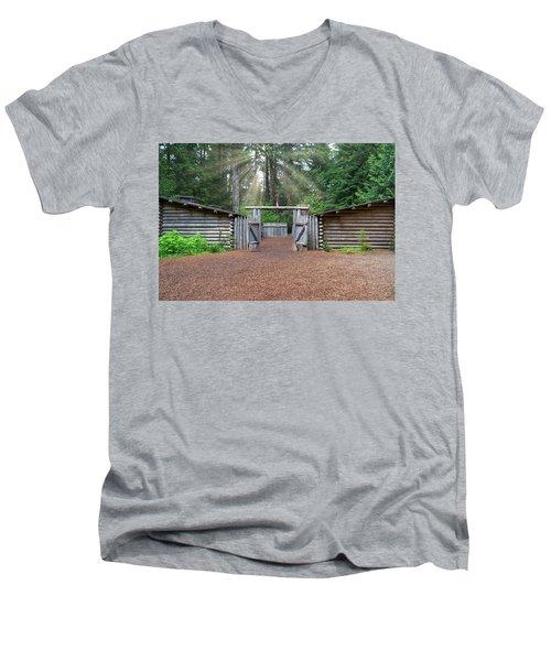 Sun Rays Over Fort Clatsop Men's V-Neck T-Shirt