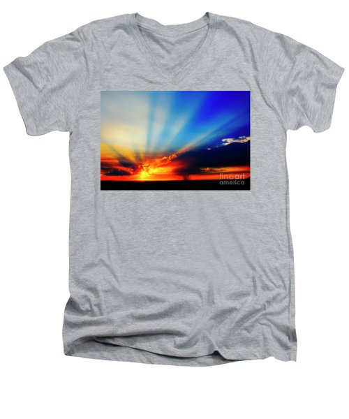 Sun Rays Men's V-Neck T-Shirt