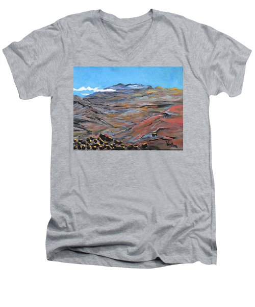 Sun Salutation At Haleakala Men's V-Neck T-Shirt