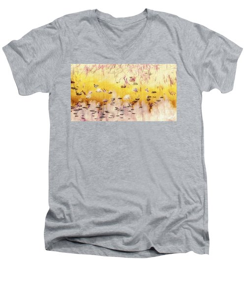 Men's V-Neck T-Shirt featuring the photograph Sun Shower by William Wyckoff