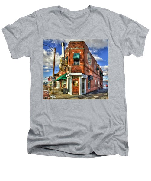 Sun Studio Rock N Roll Birthing Place Memphis Tennessee Art Men's V-Neck T-Shirt