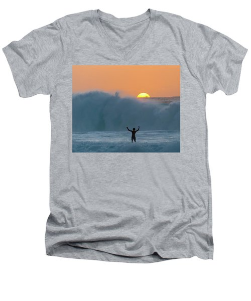 Sun Worship Men's V-Neck T-Shirt