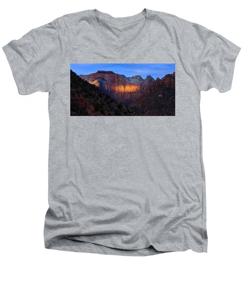 Sunbeam, Towers Of The Virgin, Zion Men's V-Neck T-Shirt