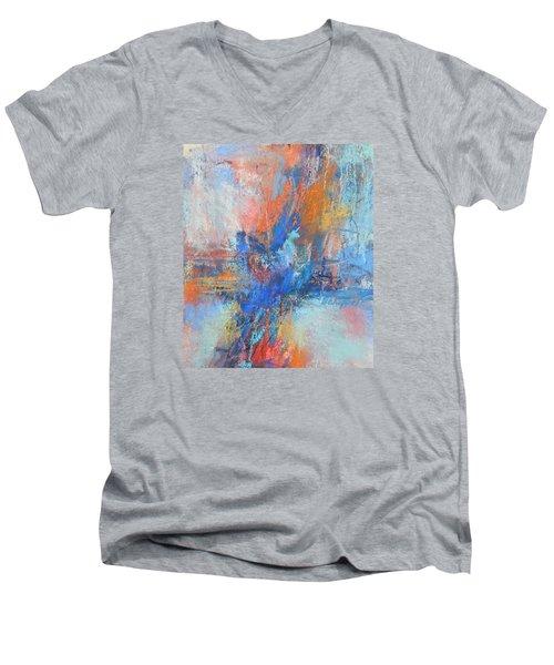 Sunburn Men's V-Neck T-Shirt by Becky Chappell