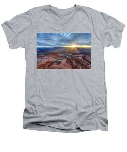 Sunburst At Dead Horse Point Men's V-Neck T-Shirt