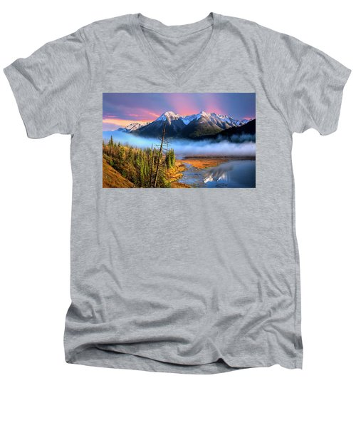 Men's V-Neck T-Shirt featuring the photograph Sundance by John Poon