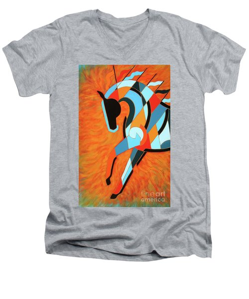 Sundancer Of The Fire II Men's V-Neck T-Shirt
