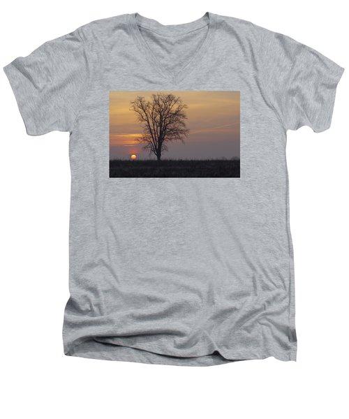 Sunday At Dawn Men's V-Neck T-Shirt by Cesare Bargiggia