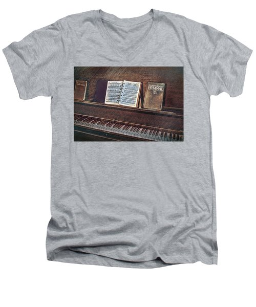 Sunday Hymns Men's V-Neck T-Shirt by Marion Johnson