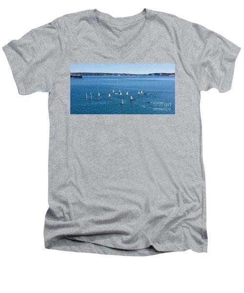 Sunday Sailing School On Casco Bay Men's V-Neck T-Shirt