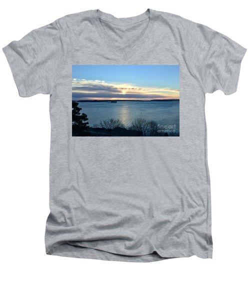 Sunday Sunrise On Casco Bay Men's V-Neck T-Shirt
