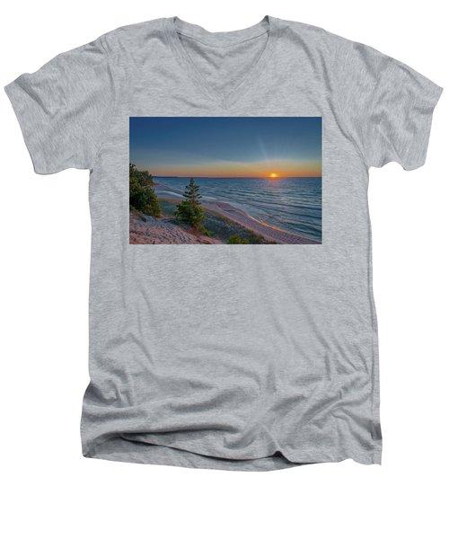 Sundown At Beaver Creek Men's V-Neck T-Shirt