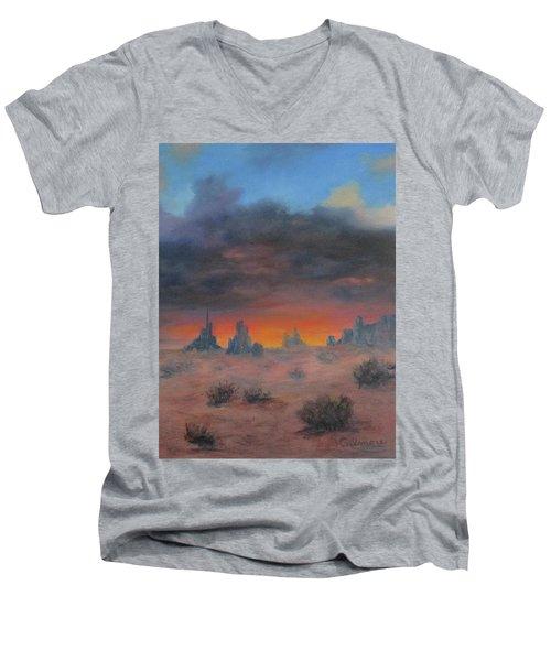 Sundown On The Desert Men's V-Neck T-Shirt
