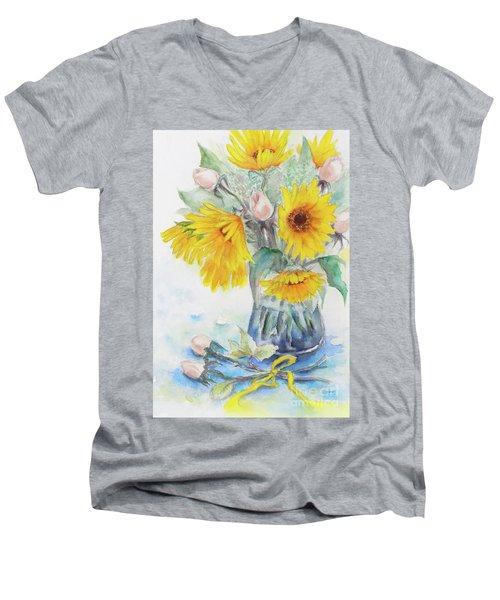 Sunflower-4 Men's V-Neck T-Shirt