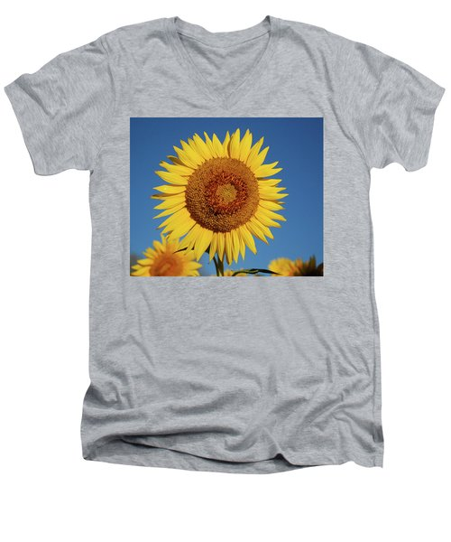 Sunflower And Blue Sky Men's V-Neck T-Shirt