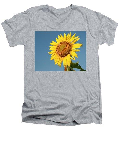 Sunflower And Blue Sky Men's V-Neck T-Shirt