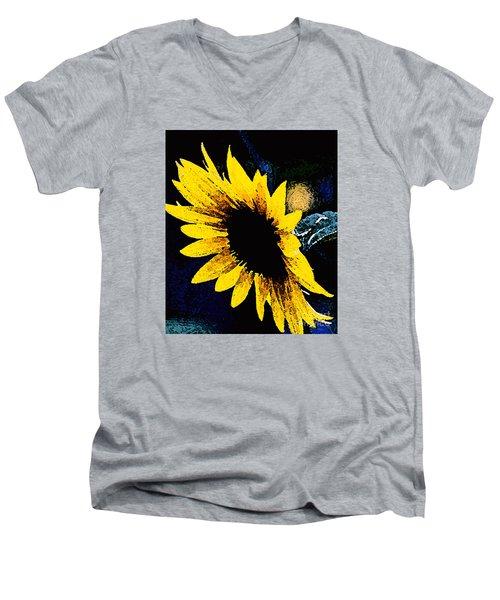 Sunflower Art  Men's V-Neck T-Shirt by Juls Adams