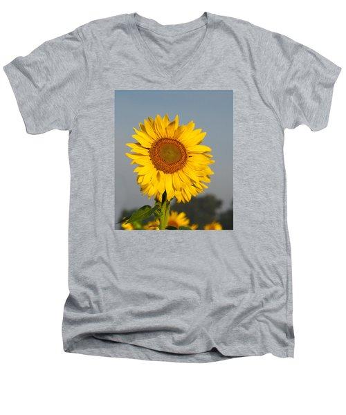 Sunflower At Attention Men's V-Neck T-Shirt