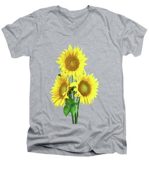 Sunflower Dreaming Men's V-Neck T-Shirt